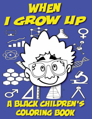 Black children grow clipart svg royalty free A Black Children\'s Coloring Book: When I Grow Up|Paperback svg royalty free