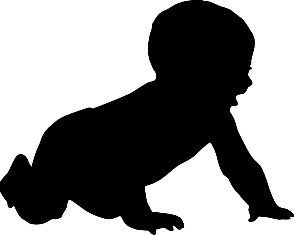 Free black and white silhouette clipart png black and white stock Baby Clip Art | Free Download Clip Art | Free Clip Art | on Clipart ... png black and white stock
