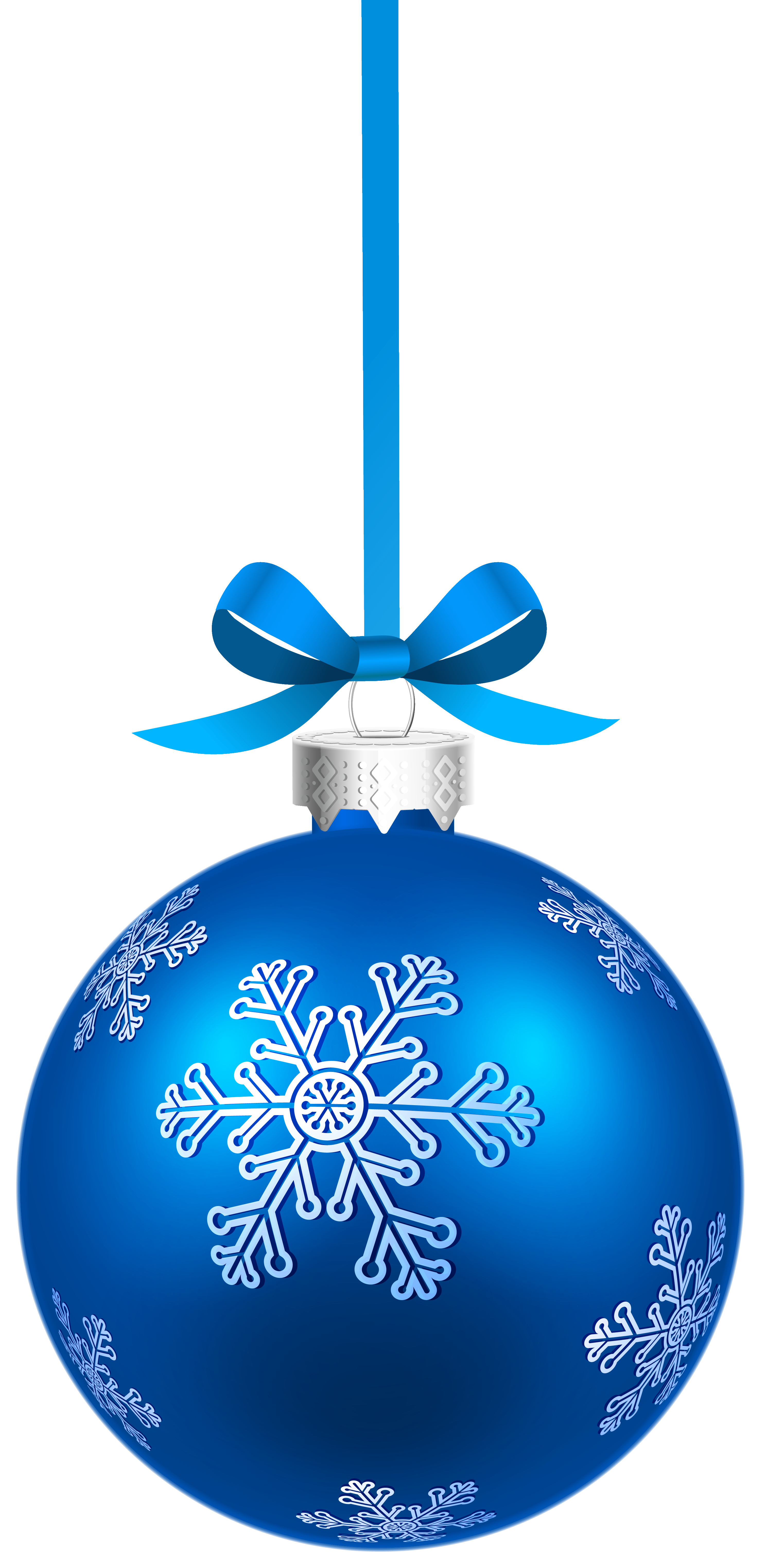 Blue snowflake free banner clipart svg library download Blue Christmas Hanging Ball with Snowflakes PNG Clipart Image ... svg library download