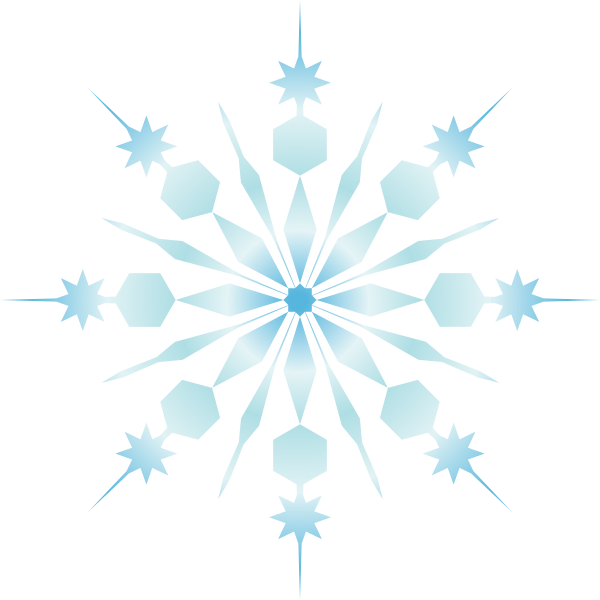Red and white snowflake clipart transparent Snowflake Clip Art at Clker.com - vector clip art online, royalty ... transparent