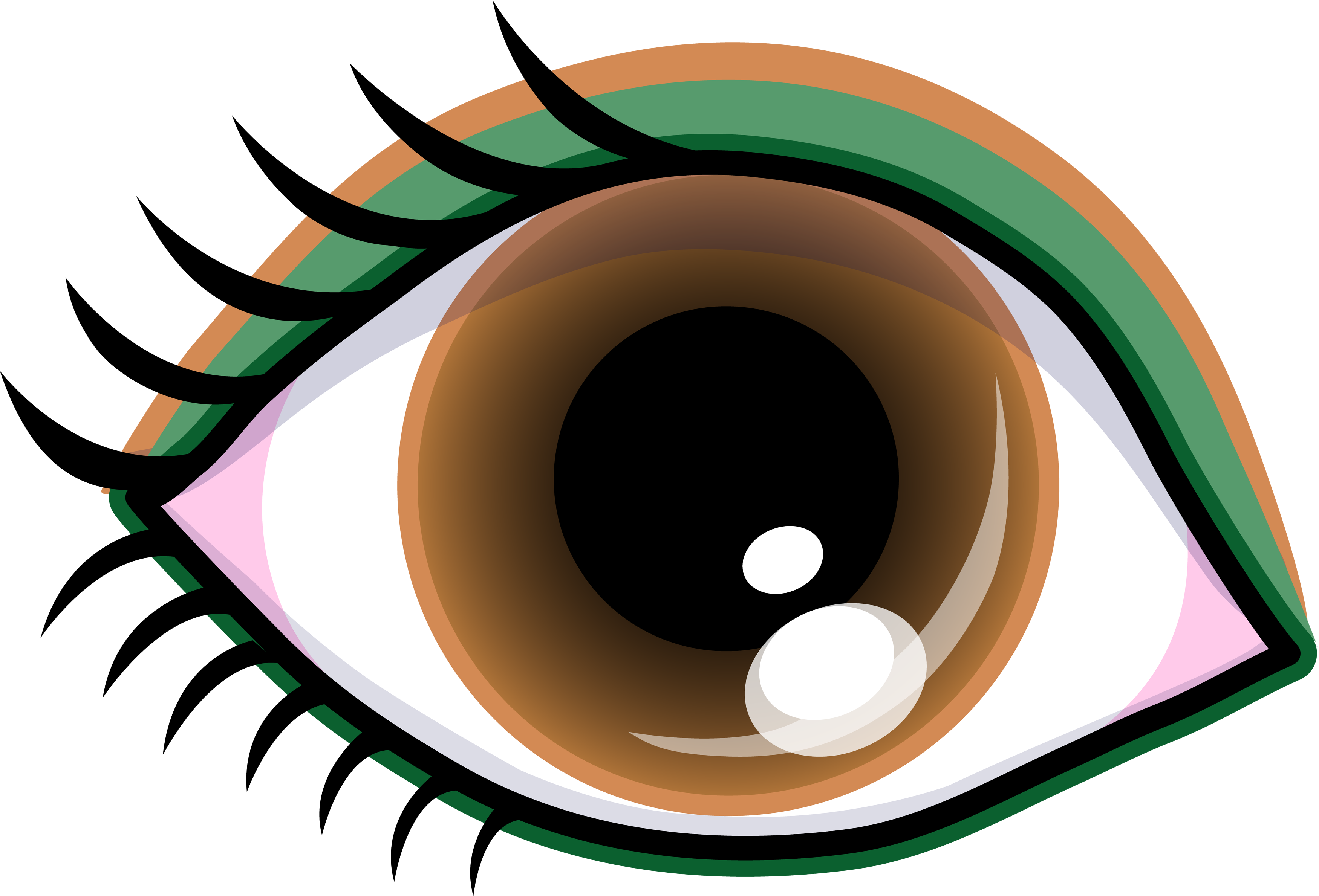 Black circle girl eye clipart jpg free stock Pretty Brown Eye With Shadow - Free Clip Art jpg free stock