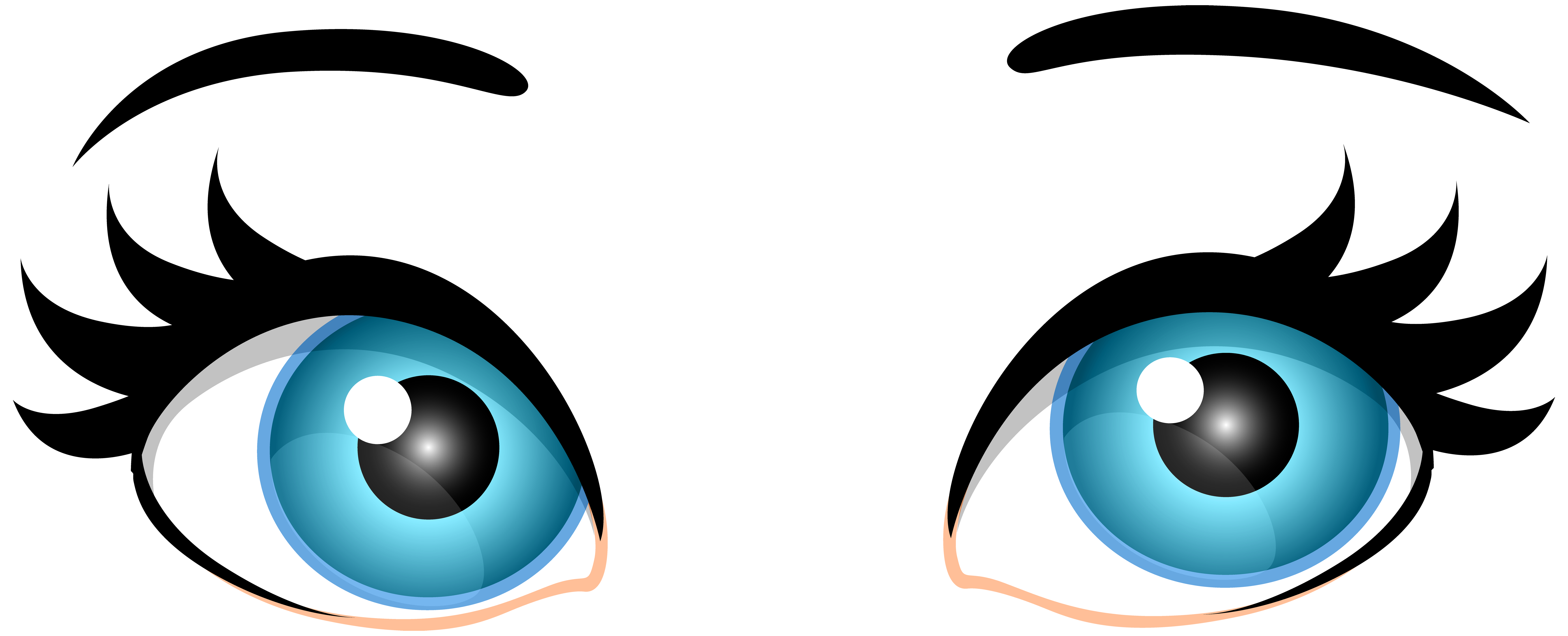 Black circle girl eye clipart graphic royalty free Black round girl eyes clipart PNG and cliparts for Free Download ... graphic royalty free