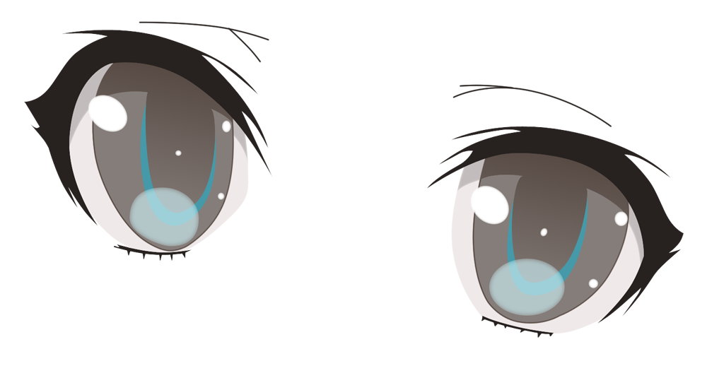 Black circle girl eye clipart jpg transparent library Anime closed eyes clipart images gallery for free download   MyReal ... jpg transparent library
