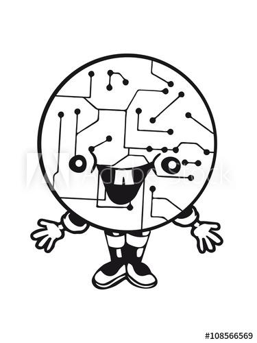Black circle man laughing clipart jpg freeuse laughing face funny comic cartoon cyborg robot head ball circle ... jpg freeuse