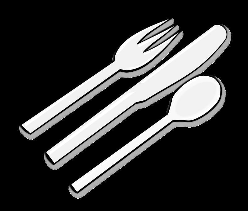 Black clipart cutlery