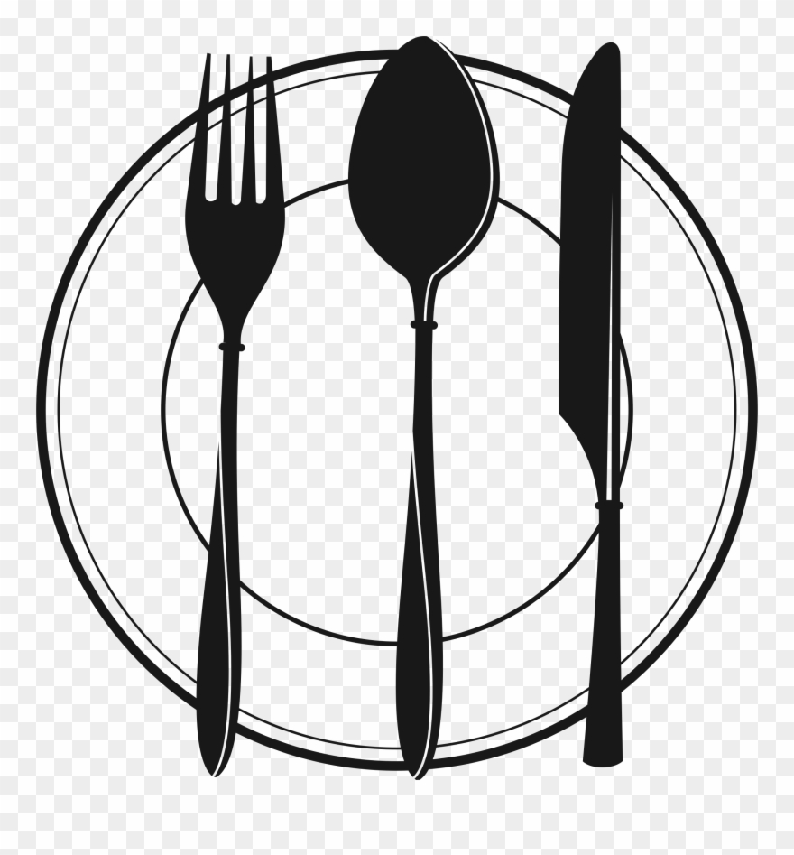 Black clipart cutlery picture library download Clipart Restaurant Spoon - Cutlery Clipart Black And White - Png ... picture library download
