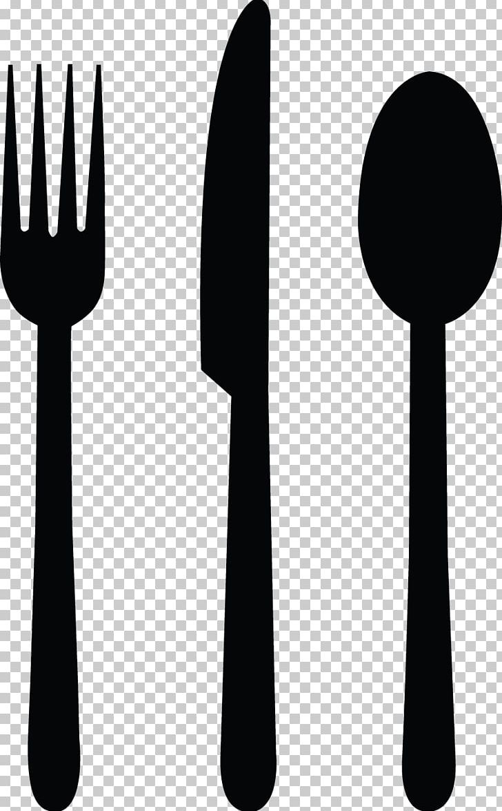 Black clipart cutlery graphic royalty free stock Knife Fork Spoon Cutlery PNG, Clipart, Black And White, Clip Art ... graphic royalty free stock