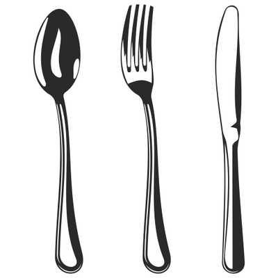 Black clipart cutlery graphic black and white Silverware fork clipart black and white pencil in color fork ... graphic black and white