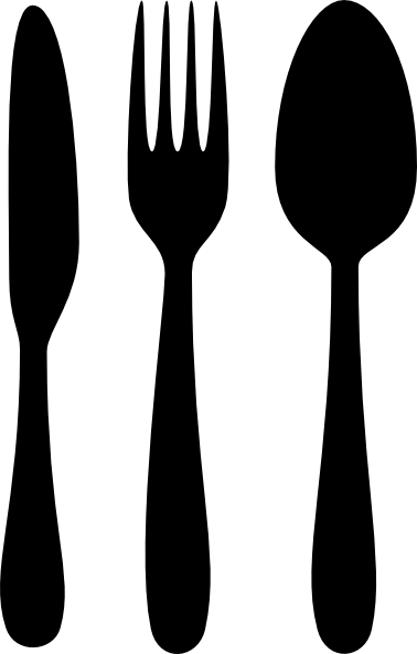 Black clipart cutlery picture black and white library 13 Cutlery Clip Art Vector Images - Knife Fork and Spoon Clip Art ... picture black and white library