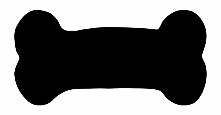 Black clipart dog bone clipart black and white library Custom Dog Bone Car Magnets - Black Dog Bone Clipart, Transparent ... clipart black and white library