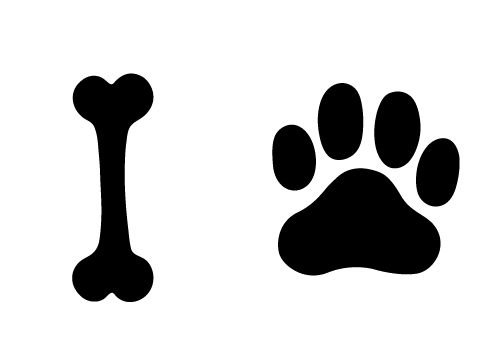 Black clipart dog bone image black and white stock Outline Of A Dog Bone | Free download best Outline Of A Dog Bone on ... image black and white stock
