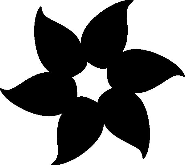 Black Flower Clipart clip free