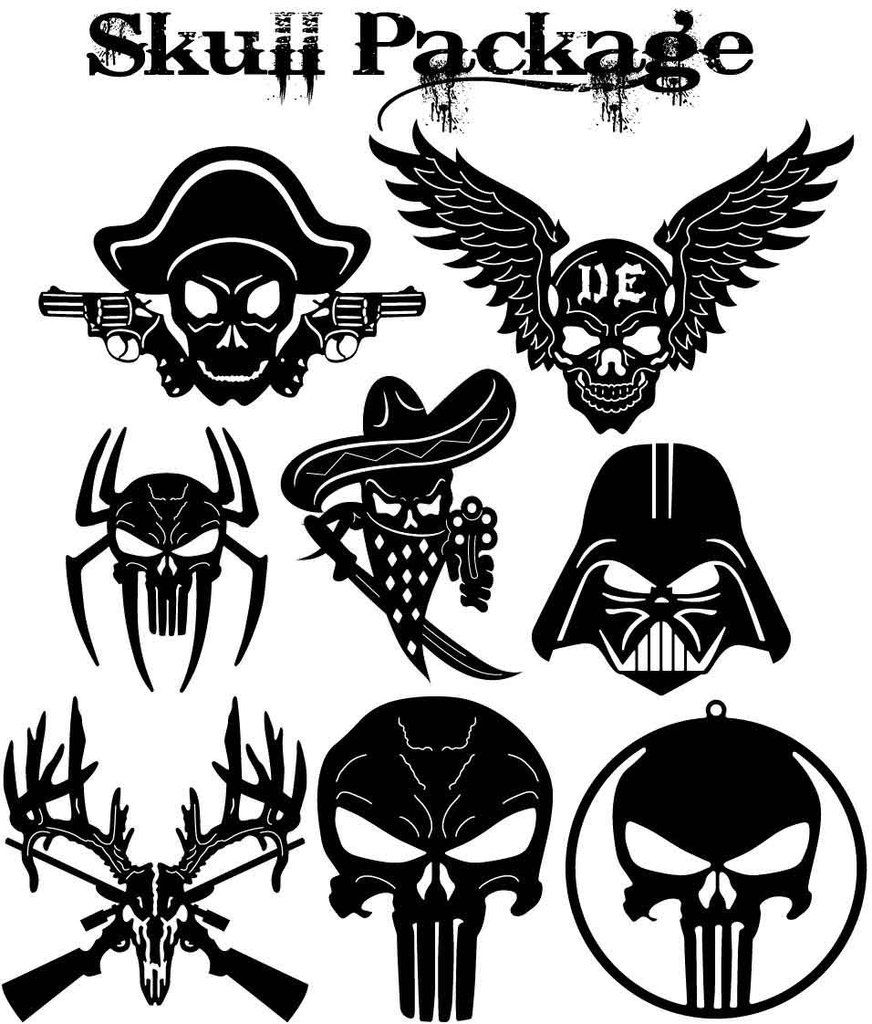 Black clipart for plazma table clipart freeuse stock Skulls signs and Symbols | Metal Home Decor | Plasma cutter art, Cnc ... clipart freeuse stock
