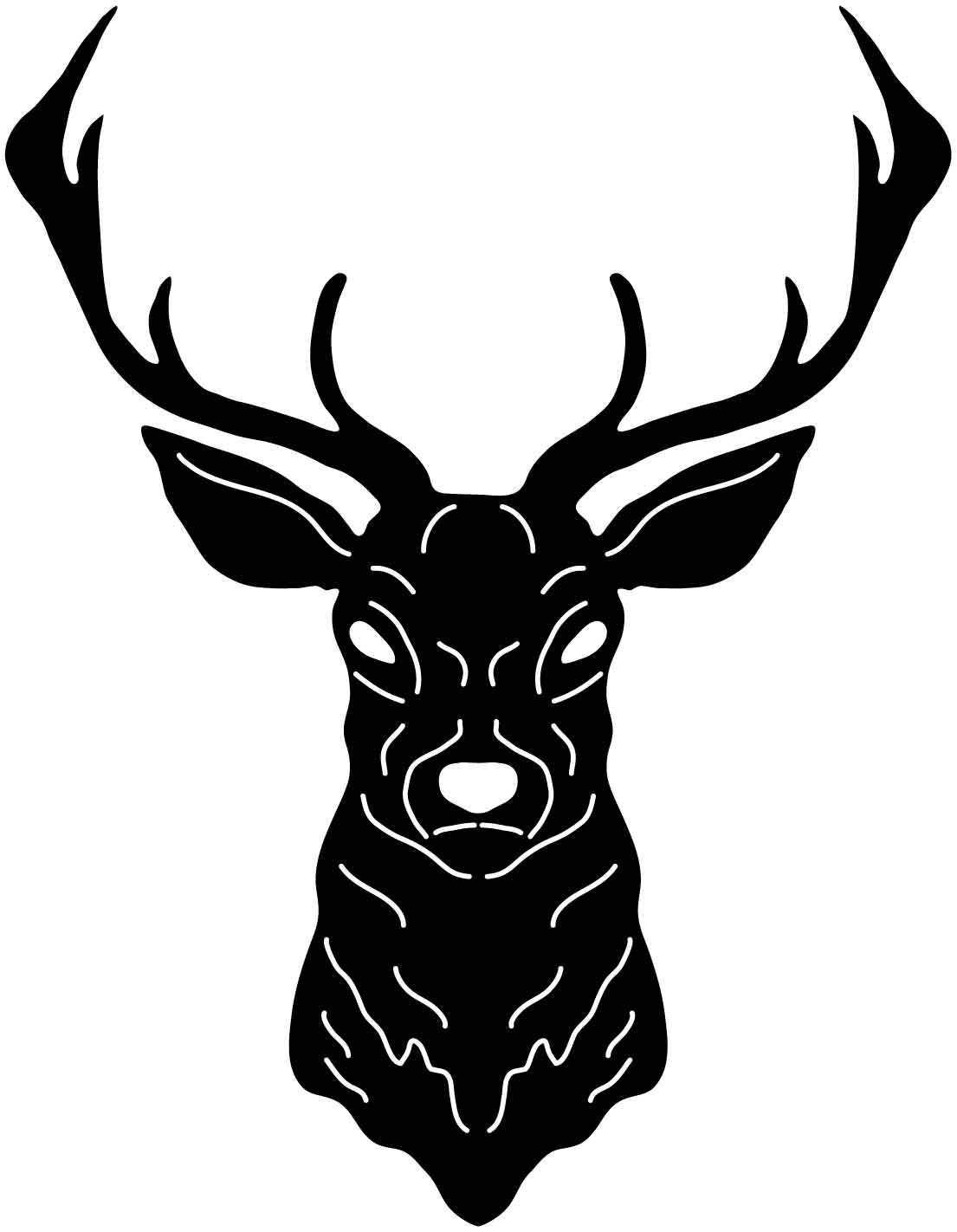 Black clipart for plazma table banner royalty free library Deer Head Free DXF file | Rustic signs | Plasma machine, Cnc wood ... banner royalty free library