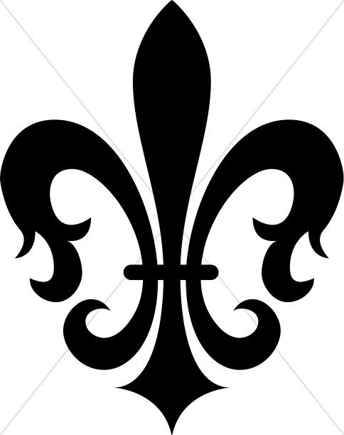 Black clipart french court fleur de le picture royalty free Stylized Fleur De Lis   Free download best Stylized Fleur De Lis on ... picture royalty free