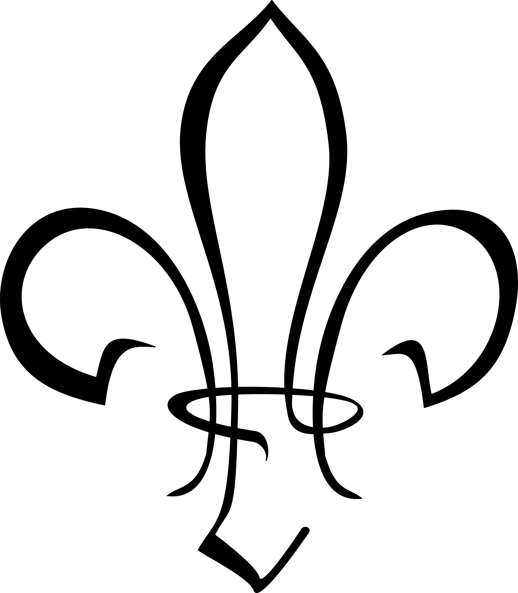 Black clipart french court fleur de le jpg freeuse download stylized fleur-de-lis by @kapn, I needed a stylized Scout sign/fleur ... jpg freeuse download