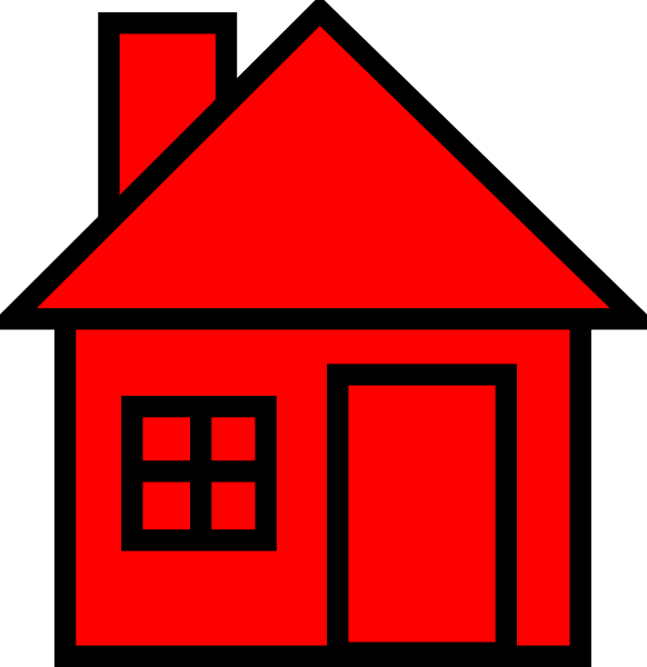 House fire clipart picture royalty free Red-black House Clipart Clip Art at Clker.com - vector clip art ... picture royalty free