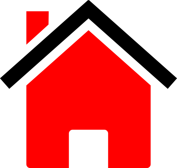Black clipart house clipart free library House Black Red Clip Art at Clker.com - vector clip art online ... clipart free library