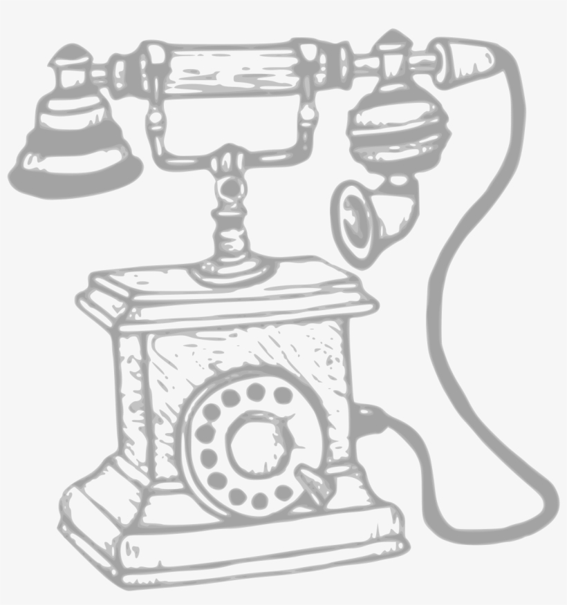 Black clipart old telephone png picture free Svg Black And White Clipart Big Image Png - Drawing Old Mobile Phone ... picture free