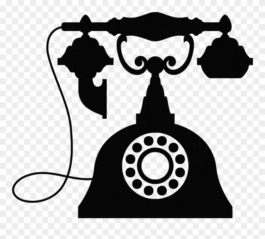 Black clipart old telephone png jpg transparent Vintage Telephone Wall Sticker, Old Phone Wall Art, - Vintage ... jpg transparent