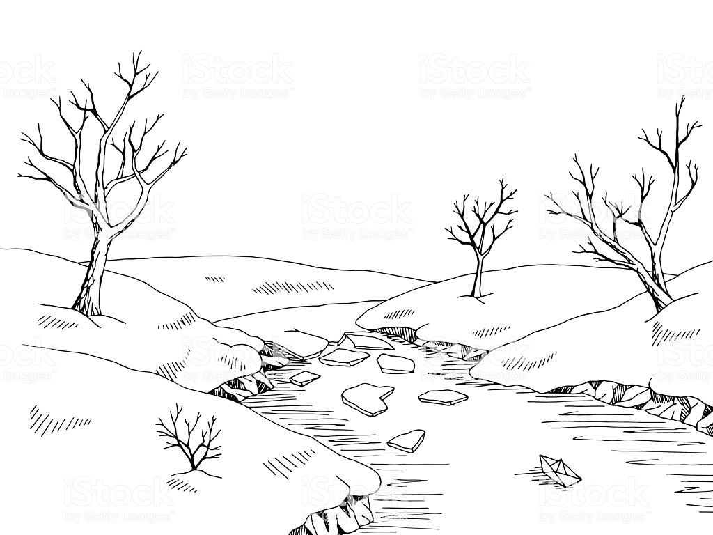 Black clipart scenery royalty free clipart royalty free download 25+ Spring Landscape Clip Art Black And White Pictures and Ideas on ... clipart royalty free download
