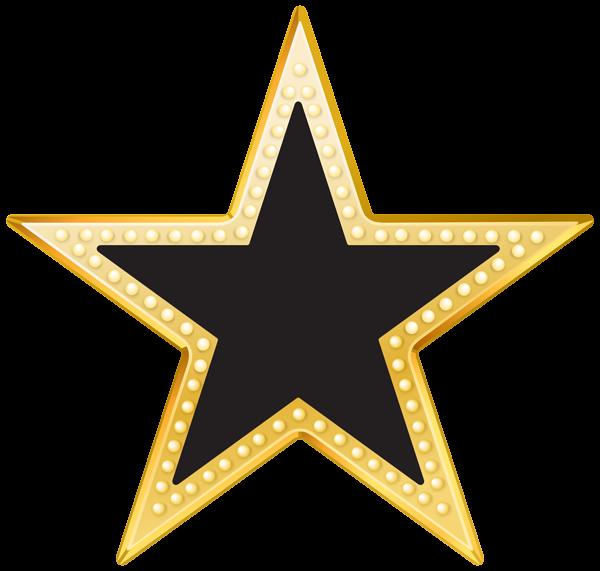 Star clipart black svg Gold and Black Star PNG Transparent Clip Art Image | Gallery ... svg