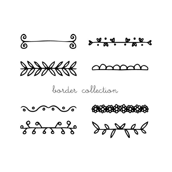 Black clipart text image library download Border Line Clipart Borders Png Black White Text Divider - Free Clipart image library download