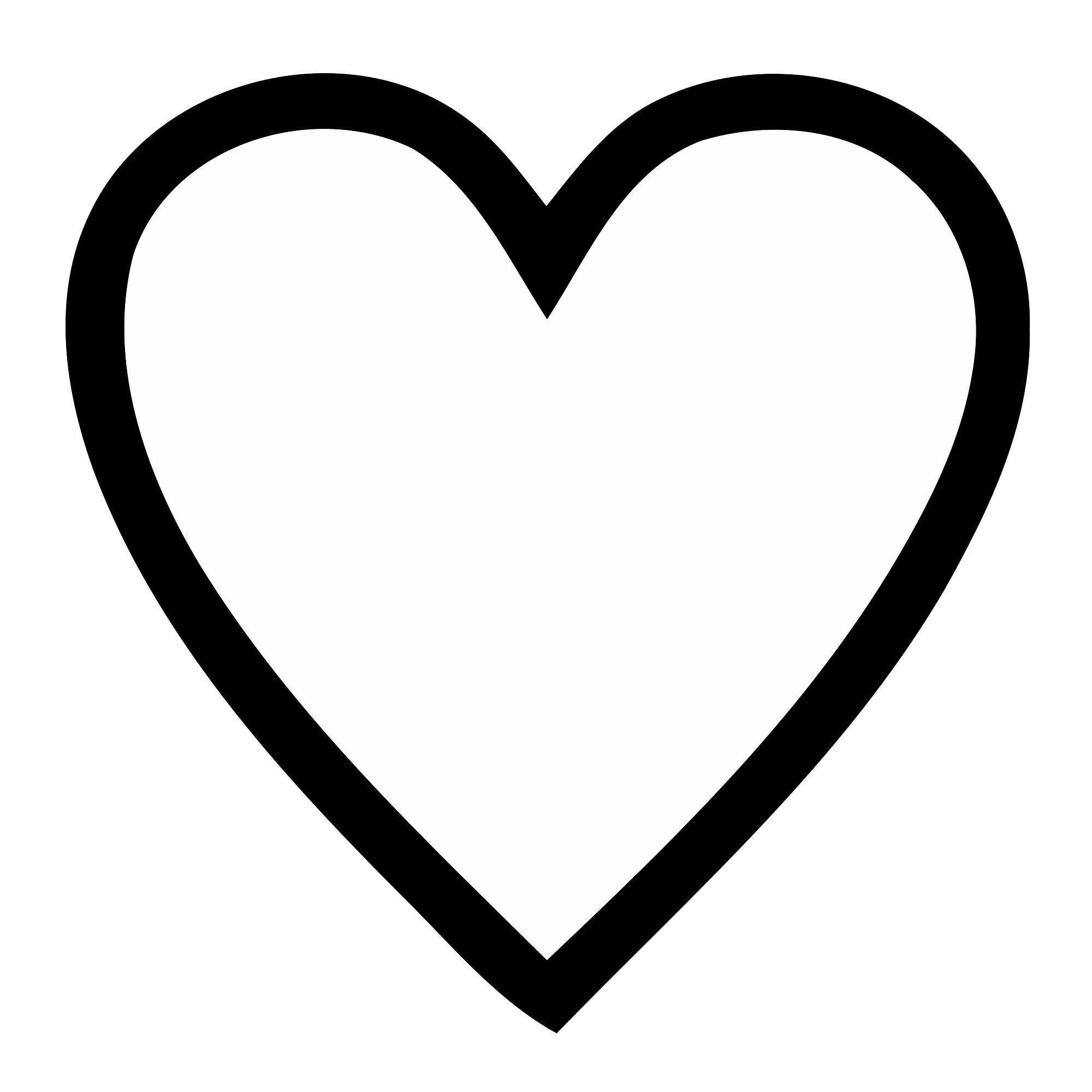 Heart Png Black Transparent clip art