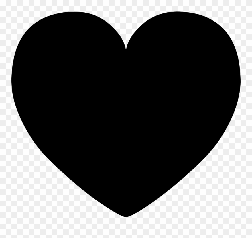 Black clipart transparent banner royalty free Hart Comments - Black Heart Clipart Transparent - Png Download ... banner royalty free