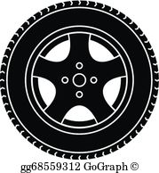 Black clipart wheel vector library Car Wheel Clip Art - Royalty Free - GoGraph vector library