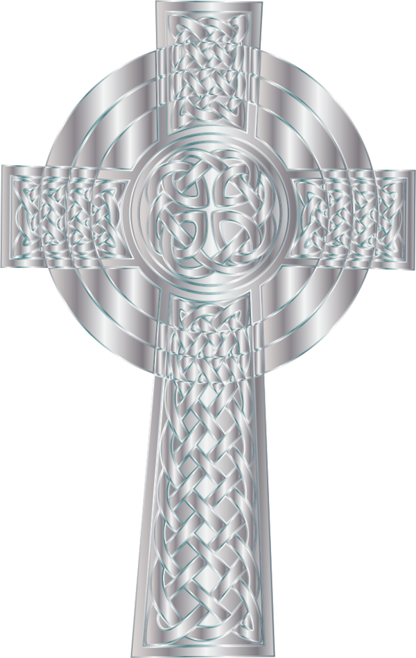 Silver cross clipart transparent Silver Celtic Cross Png Clipart - 765 - TransparentPNG transparent