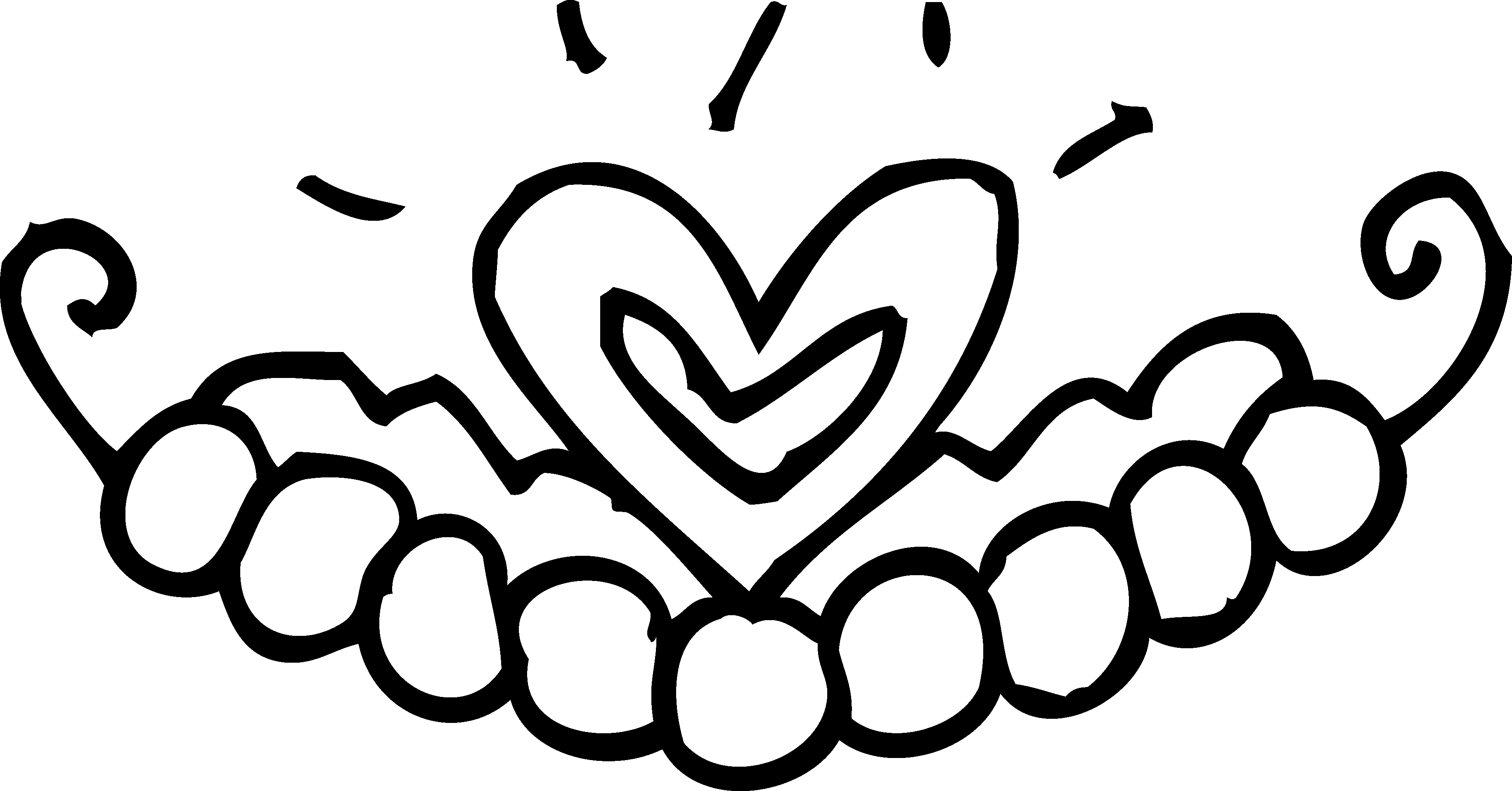 Hand drawn crown clipart svg black and white Crown Outline Drawing at GetDrawings.com | Free for personal use ... svg black and white