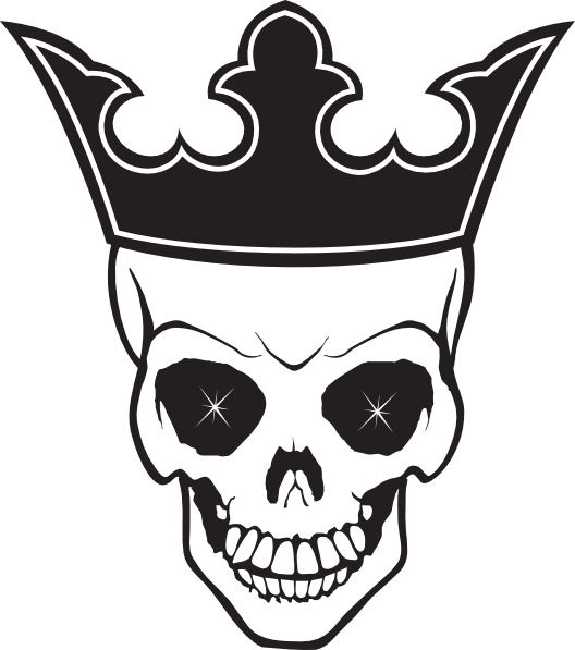 Crown tattoo clipart vector black and white stock Skull and Crown Tattoo transparent PNG - StickPNG vector black and white stock