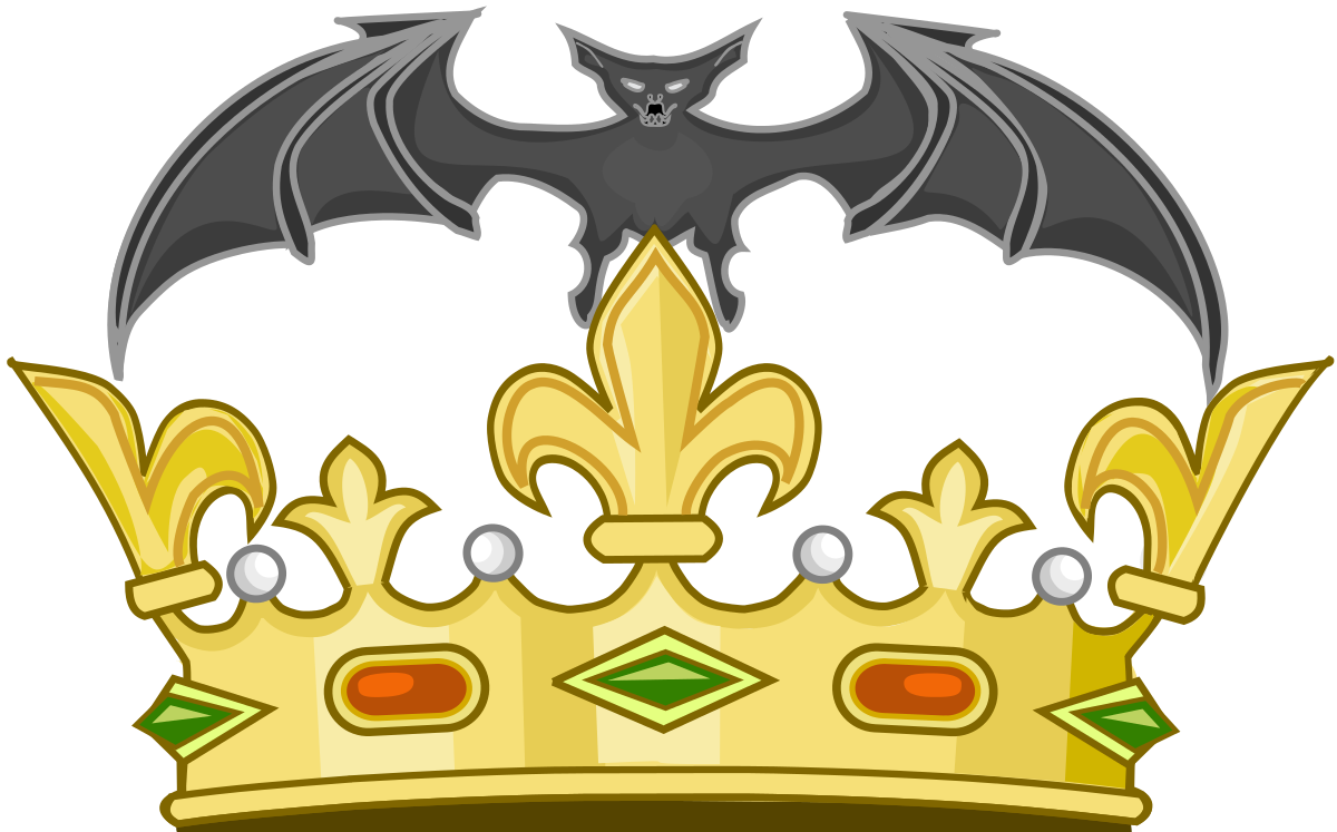 Black crown with shield clipart svg freeuse stock Bat (heraldry) - Wikipedia svg freeuse stock