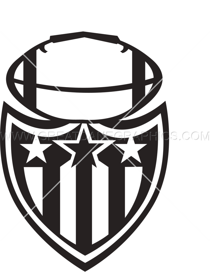 Shield With Wings Template | Production Ready Artwork for T-Shirt ... clipart library download