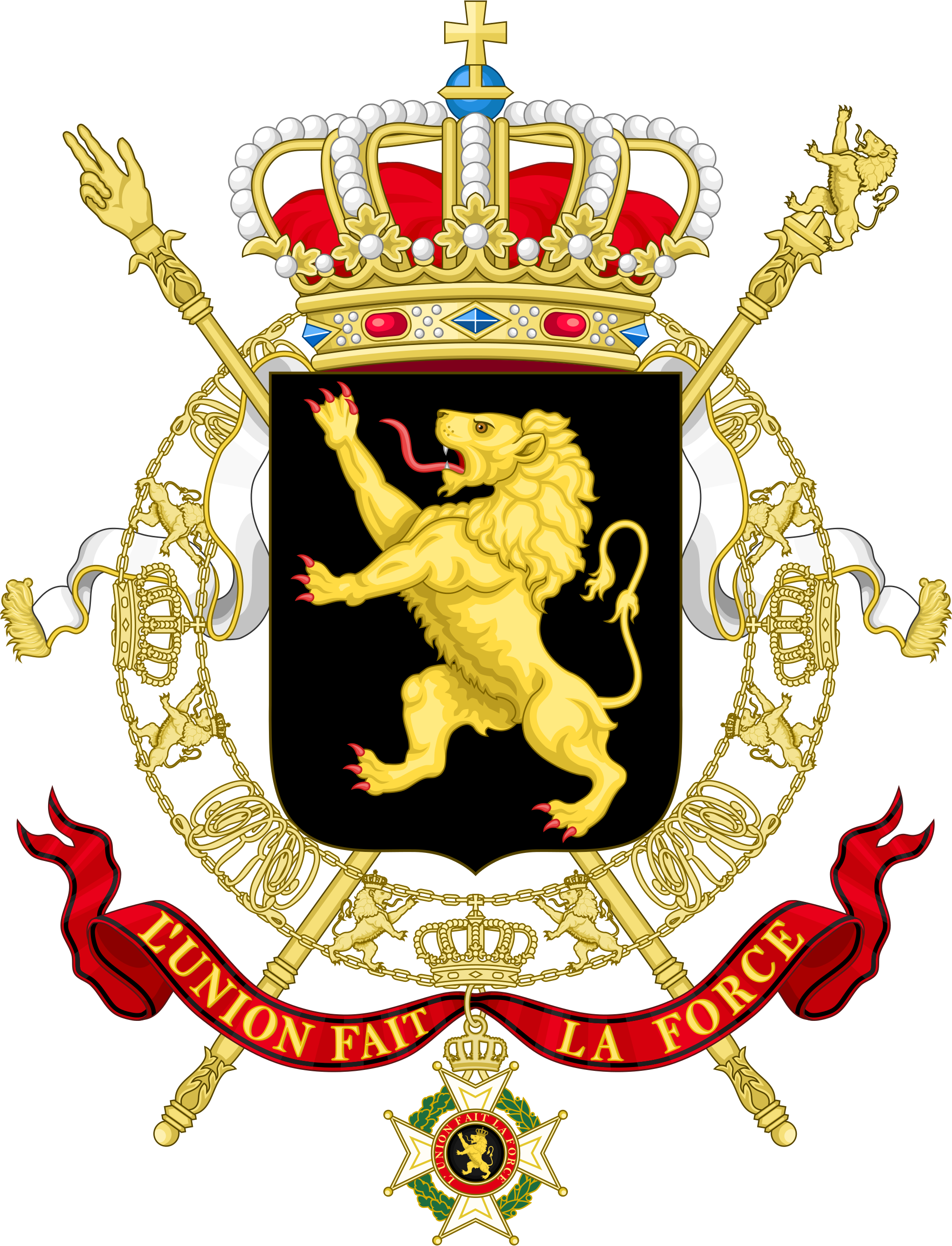Coat of arms of Belgium - Wikipedia vector royalty free download