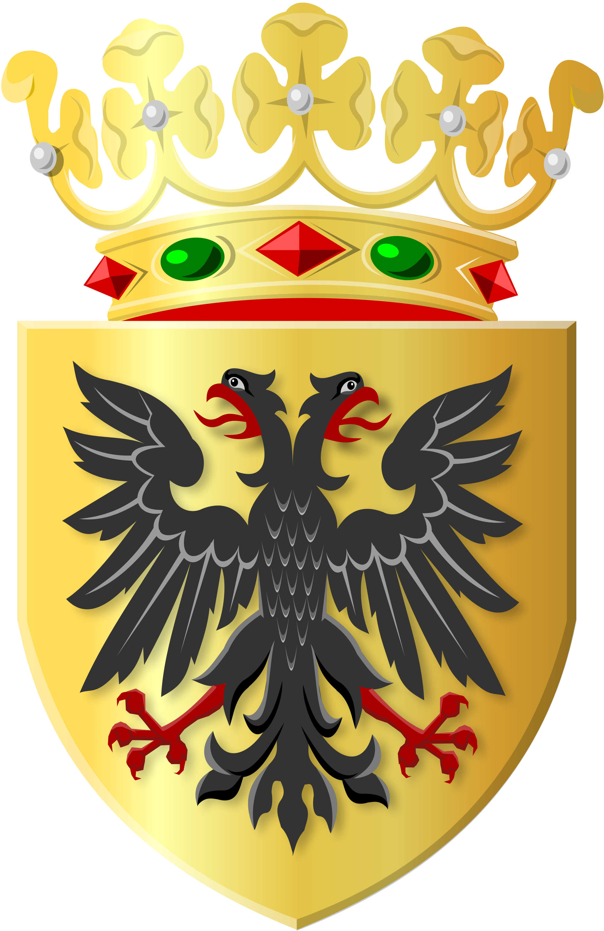 Black crown with shield clipart png freeuse library File:Golden shield with black eagle and golden crown.svg - Wikimedia ... png freeuse library