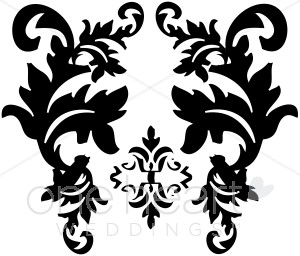 Black damask clipart royalty free Black and White Damask Clipart | Wedding Designs royalty free