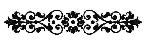 Black damask clipart svg free stock 6+ Damask Border Clip Art | ClipartLook svg free stock