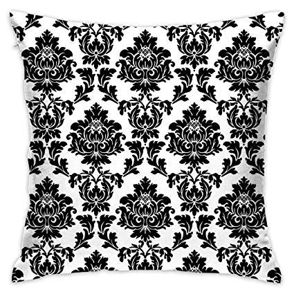 Black damask clipart vector free download Amazon.com: Cuizhentao Black and Pink Damask Clipart Warmth Decor ... vector free download