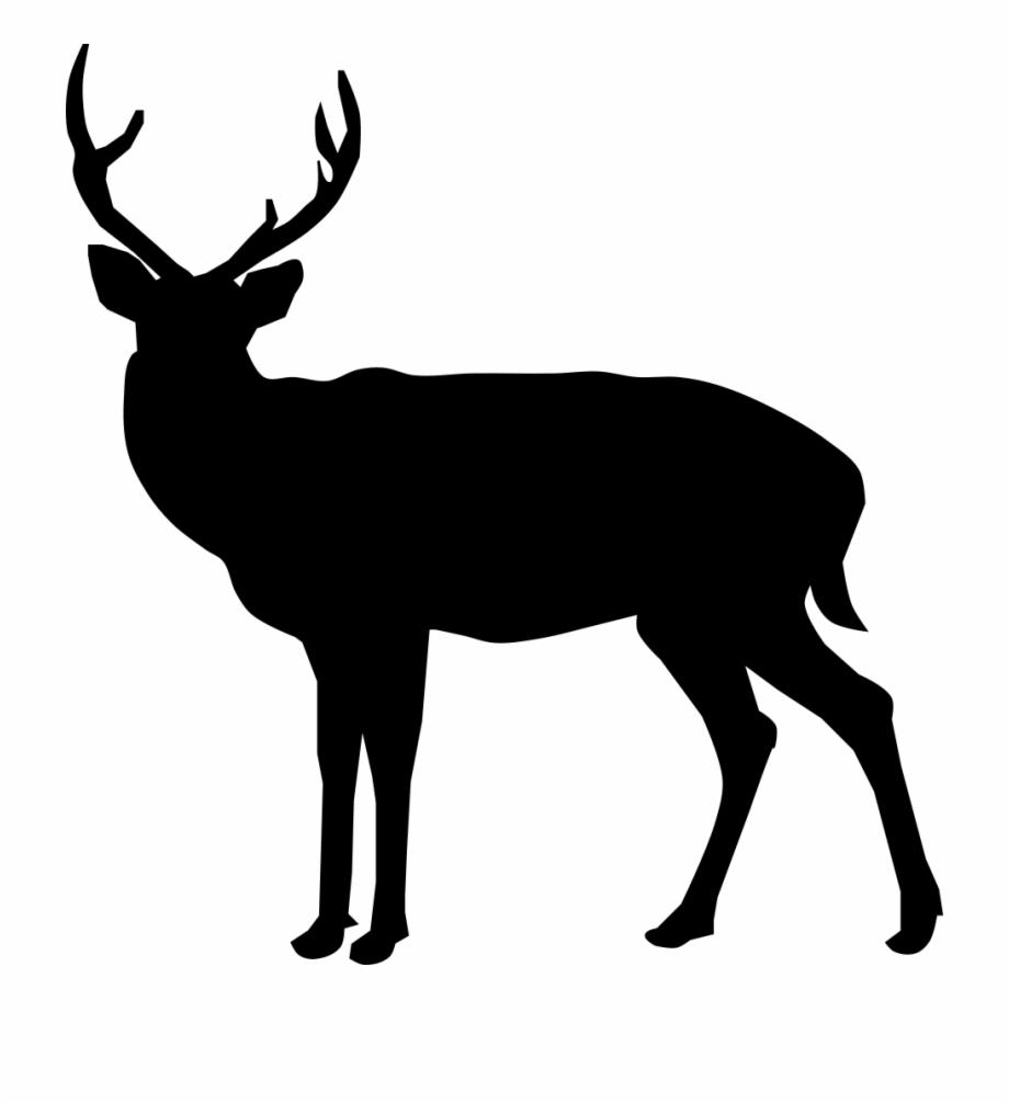 Black deer clipart clipart freeuse library Buck Deer Silhouette - Black Deer Transparent Free PNG Images ... clipart freeuse library