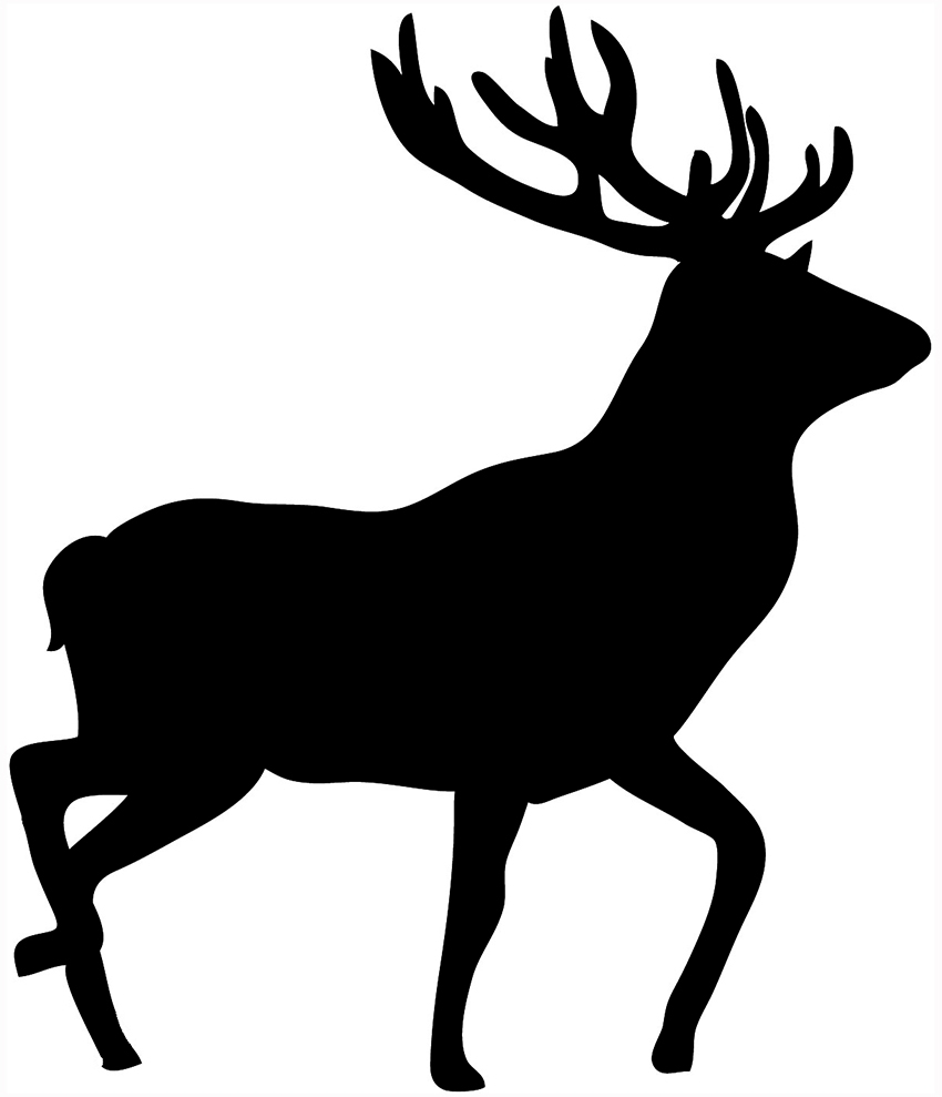 Black deer clipart clip freeuse library Deer Images Black And White | Free download best Deer Images Black ... clip freeuse library