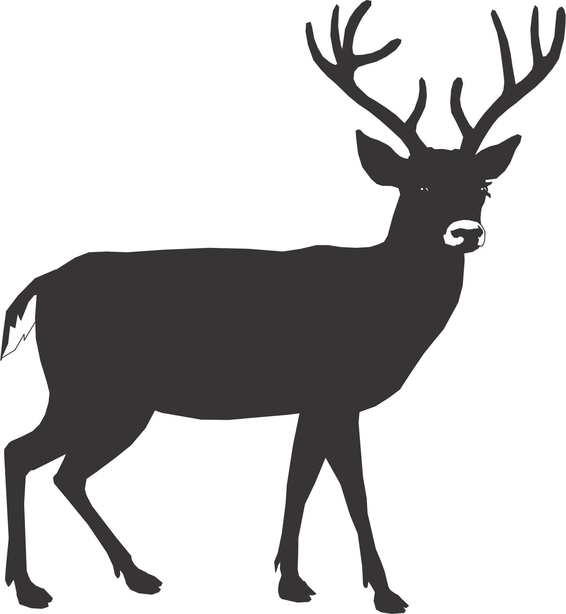Black deer clipart banner library library Elk Clipart Black And White | Free download best Elk Clipart Black ... banner library library