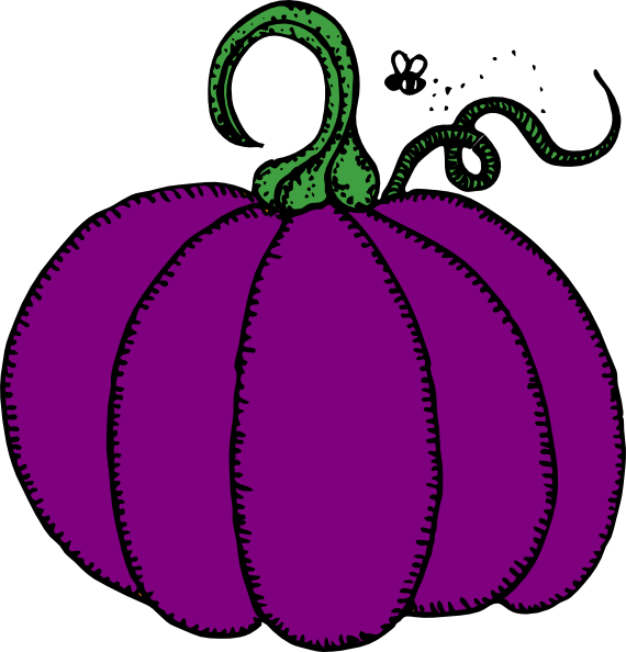 Green pumpkin clipart graphic black and white stock Purple Pumpkin Clip Art at Clker.com - vector clip art online ... graphic black and white stock
