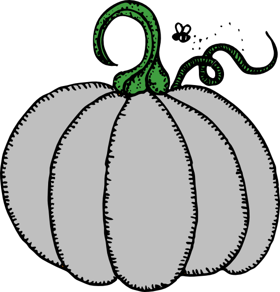 Gray pumpkin leaf clipart