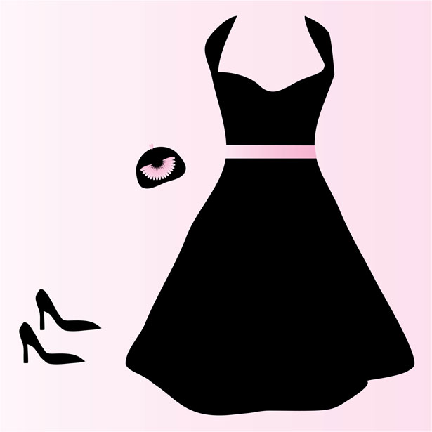 Black dress and pearls clipart vector free Free Blank Dress Cliparts, Download Free Clip Art, Free Clip Art on ... vector free