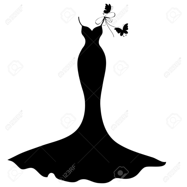 Black dress silhouette clipart image library download Little Black Dress Silhouette Clipart | Free Images at Clker.com ... image library download