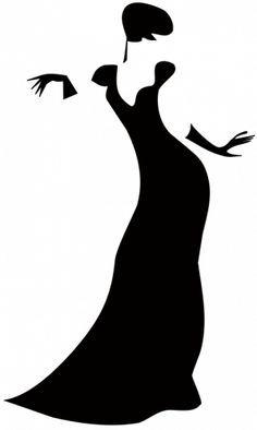 Black dress silhouette clipart svg download Dress Form Silhouette Clip Art | women dress silhouettes high ... svg download