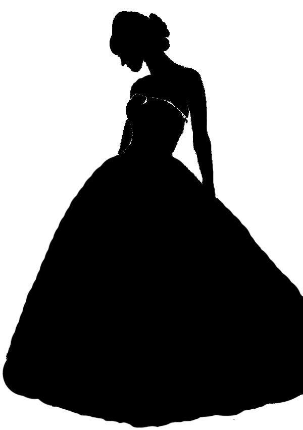 Black dress silhouette clipart