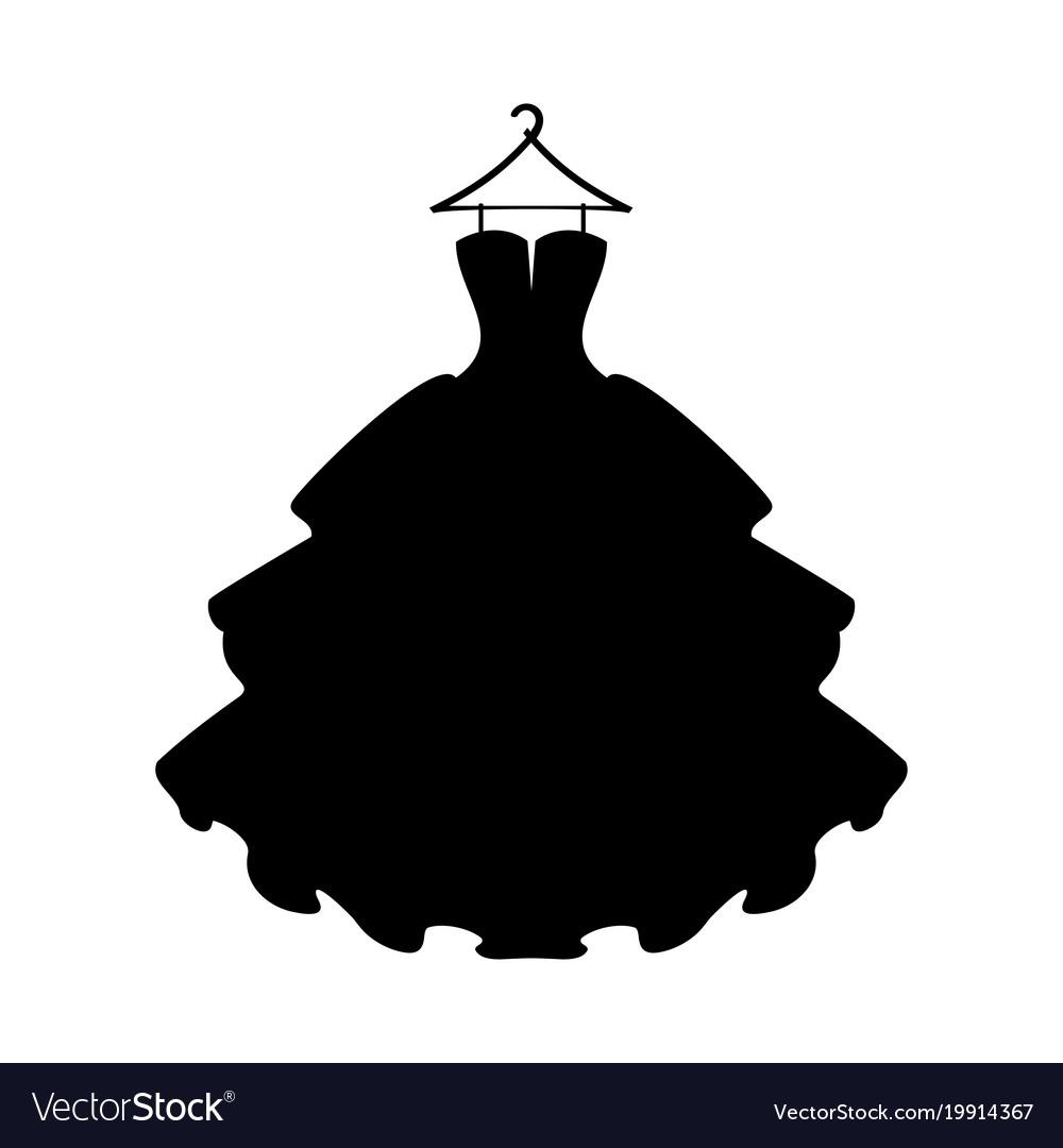 Black dress silhouette clipart clip freeuse stock Dresses black dress silhouette of dress on white clip freeuse stock